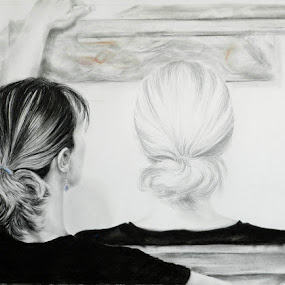 Selfsame by Kerry  Milligan - Drawing All Drawing ( pencil, charcoal, drawing, portrait,  )