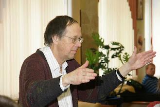 Photo: Malfred Hanssen - неиссякаемый источник энергии и творческой фантазии, один из художественных руководителей семинара и дирижёр старшего оркестра.