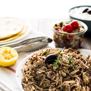 Slow Cooker Pulled Pork Gyros