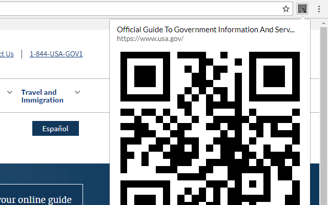 QR Code from the URL
