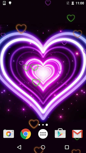 免費下載個人化APP|Neon Hearts Live Wallpaper app開箱文|APP開箱王