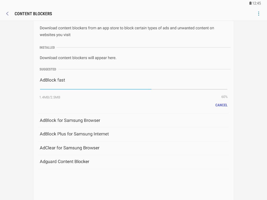 Samsung Internet Browser screenshots