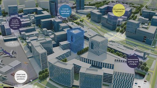The Jaguar Land Rover smart city hub.