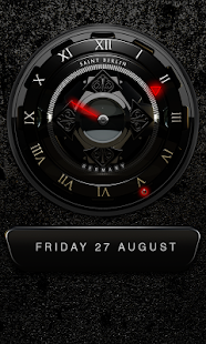 Black Shiva HD Analog Clock Widget Screenshot