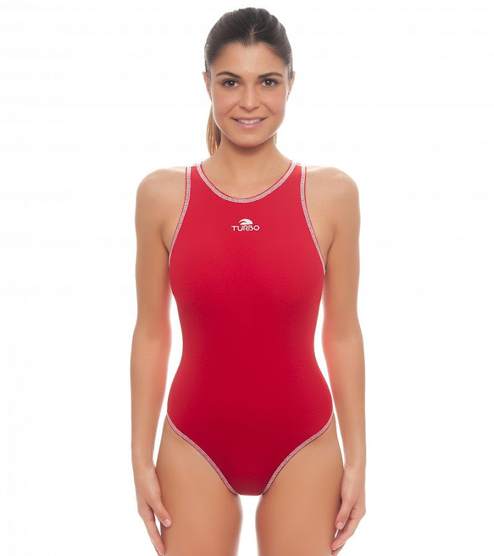 Turbo waterpolo suit girl COMFORT Red - 8934822