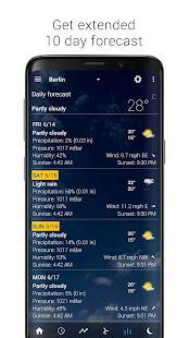 App Transparent clock & weather APK for Windows Phone