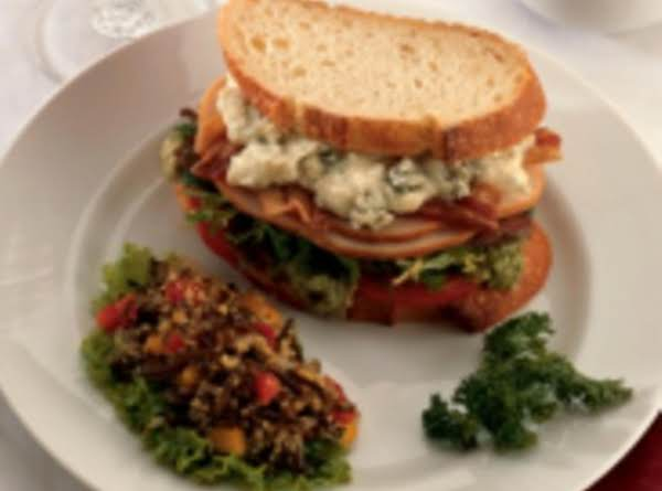 Smoked Turkey Cobb Sandwich With Blue Cheese Mayo Recipe