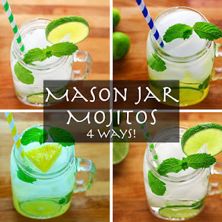 Mason Jar Mojitos - 4 Ways! (Key Lime Mojito)