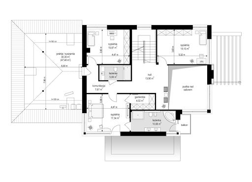 Dom z widokiem 2 C - Rzut piętra