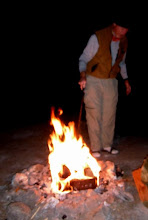 Photo: Rudi's white-man's fire at Ferguson Lake. (D Miller)