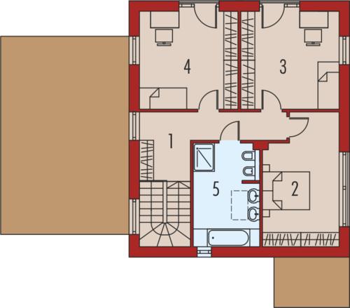 EX 12 z wiatą soft - Rzut piętra