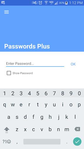 Passwords Plus Password Mgr screenshot 1