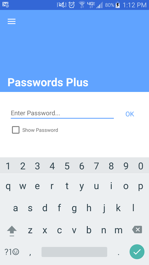 Passwords Plus Password Mgr- screenshot