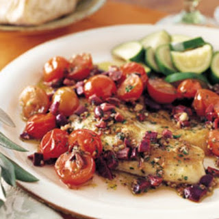Spicy Sauteed Fish with Olives and Cherry Tomatoes Recipe