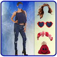 Girls Jeans Photo Suit Editor icon