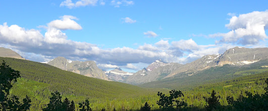 Photo: Mt. James is peak just to right of center - Can't see Triple Divide Peak from here