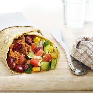 Mexican Mince- Burrito Style.