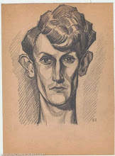 Photo: Автопортрет В. Некрасова,  карандаш, 20 х 27 см, конец 1930-х