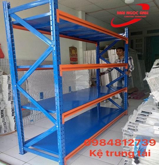 Kệ trung tải- kệ siêu thị dùng trưng bày hàng hóa nặng