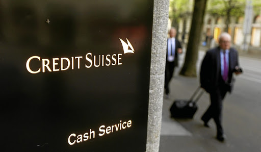 The logo of Credit Suisse is seen in front of a branch office in Zurich, Switzerland.    Picture: REUTERS