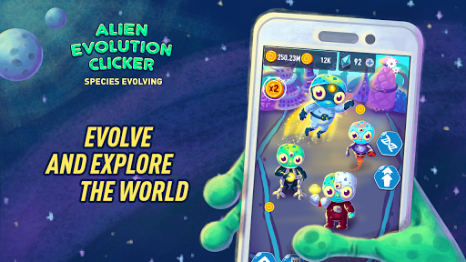 Alien Evolution Clicker: Species Evolving 1.0.5 gameplay | by HackJr.Pw 5