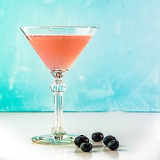 Blueberry Elderflower Martini.