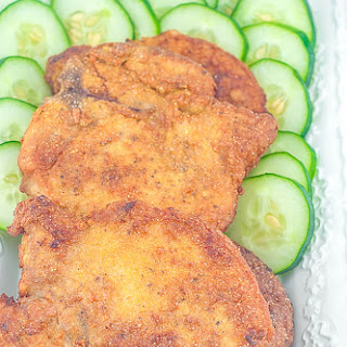 Lightly Breaded Fried Pork Chop.