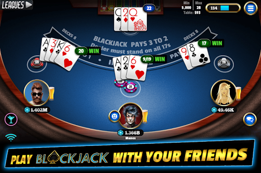 BlackJack 21 - Online Blackjack multiplayer casino 7.9.5 Mod screenshots 1