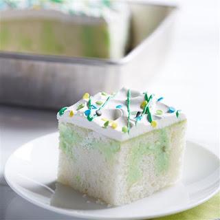 Pistachio Pudding Poke Cake.