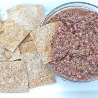 Spelt Crackers and Vegan Olive Tapenade