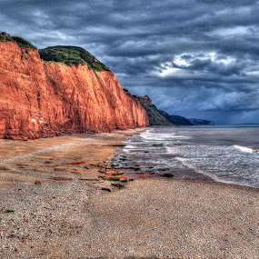 Sidmouth Cliffs by Terry Niec - Landscapes Travel ( cliffs, waves, devon, storm, sidmouth,  )