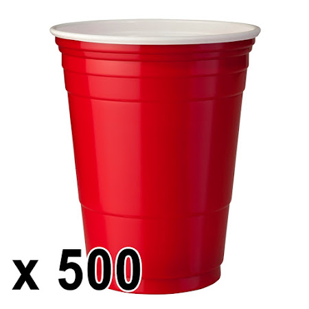 500 kpl. Red Cups Mukeja (473 ml./16 Oz.)