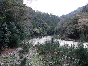 林道終点から河原歩き
