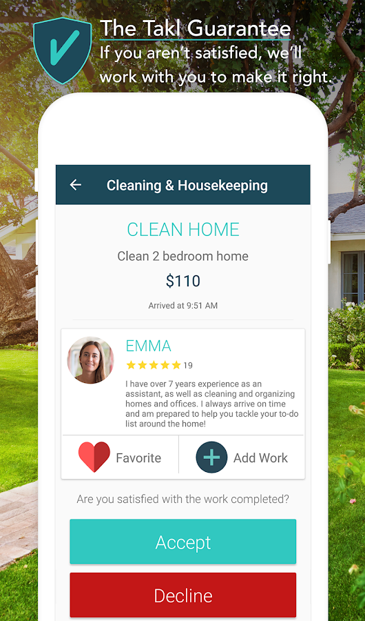 Takl - On-Demand Home Services- screenshot