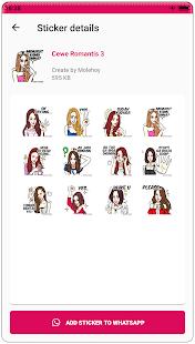 Download Stiker Cewe Romantis WAStickerApps APK