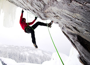 Photo: First ascent of 'Zendium' in Rjukan, Norway