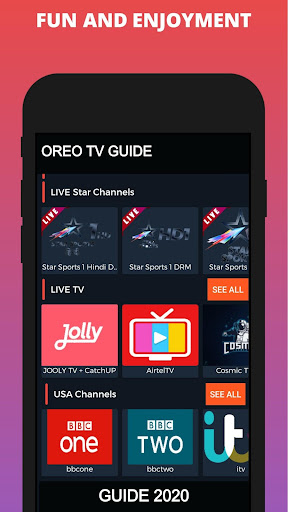 Oreo TV App Live Guide screenshot 4