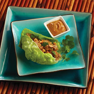 Thai Lettuce Wraps with Peanut Sauce.