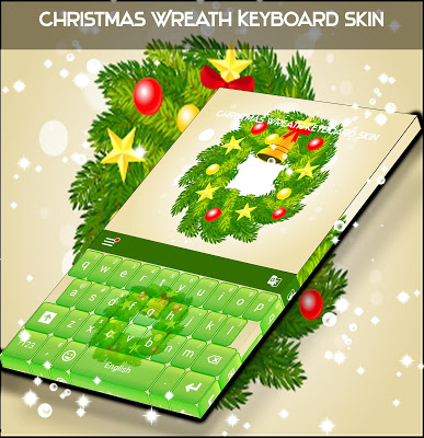 Christmas Wreath Keyboard Skin - screenshot