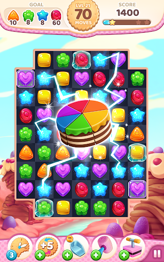 Code Triche Cookie Rush Match 3 APK MOD screenshots 1