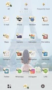 Eifel Tower Wallpaper Paris & Girl Theme - náhled