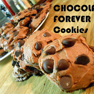 Chocolate Forever Cookies with Nutella Cream Cheese Frosting