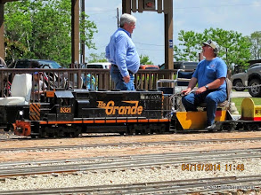 Photo: Engineers Gary Brothers and Gerald Lee     HALS Public Run Day 2014-0419 DH3