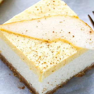 Pear Mousse Cheesecake Bars