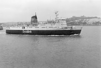 """Photo: """"St. Eloi"""" leaving Dover for Dunkerque, Sept. 3, 1975 (Photo A.M.S. Russell)"""