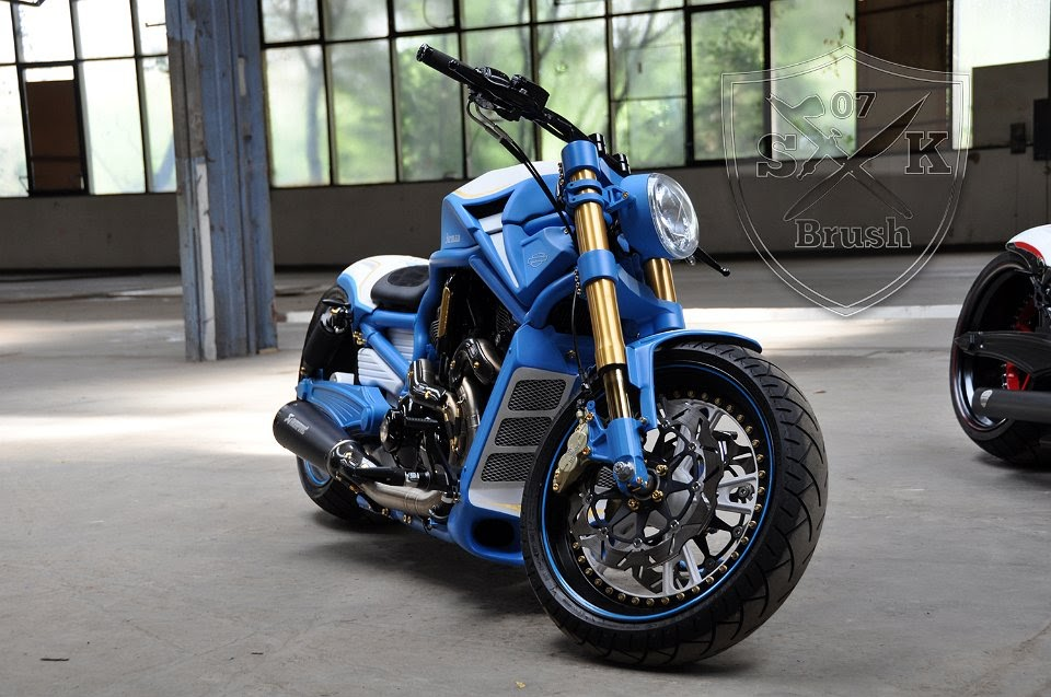 "Harley Davidson V Rod ""Iceman"" by SK-Brush"