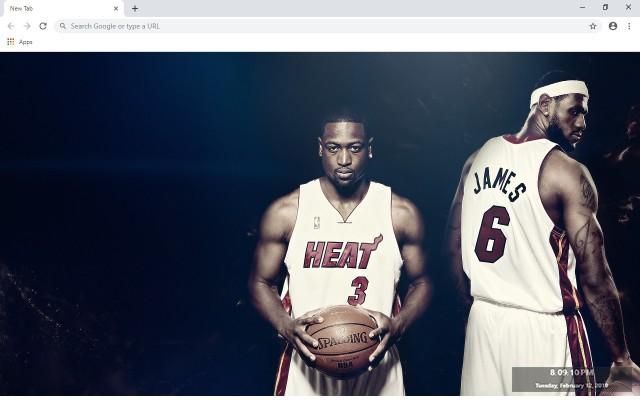 Dwyane Wade NBA New Tab Theme