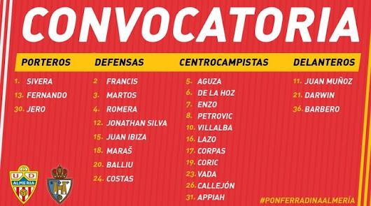 Mario Silva se lleva a 25 jugadores