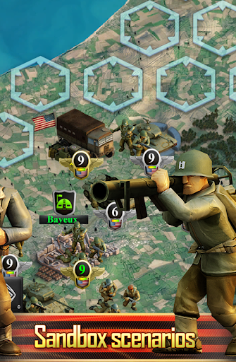 Frontline: Western Front - WW2 Strategy War Game screenshots 7