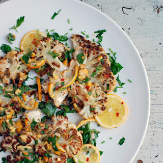 Roasted Cauliflower Steaks with Meyer Lemon Relish